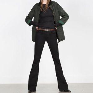 New Zara Skinny Flare Black Jeans 8